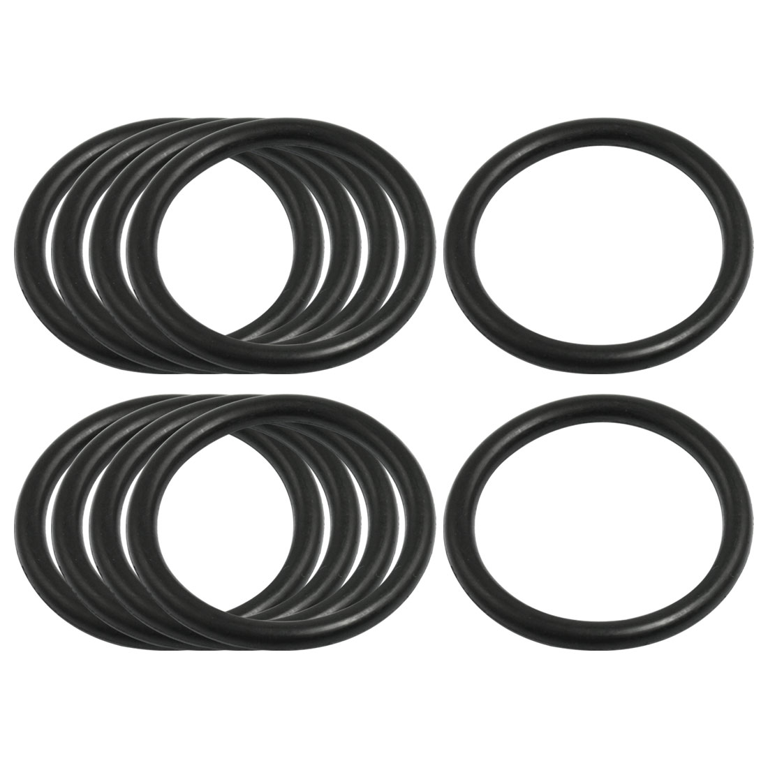 4mm x 41mm Black Nitrile Rubber Sealing O Ring Seal Washer Grommets 10 Pcs