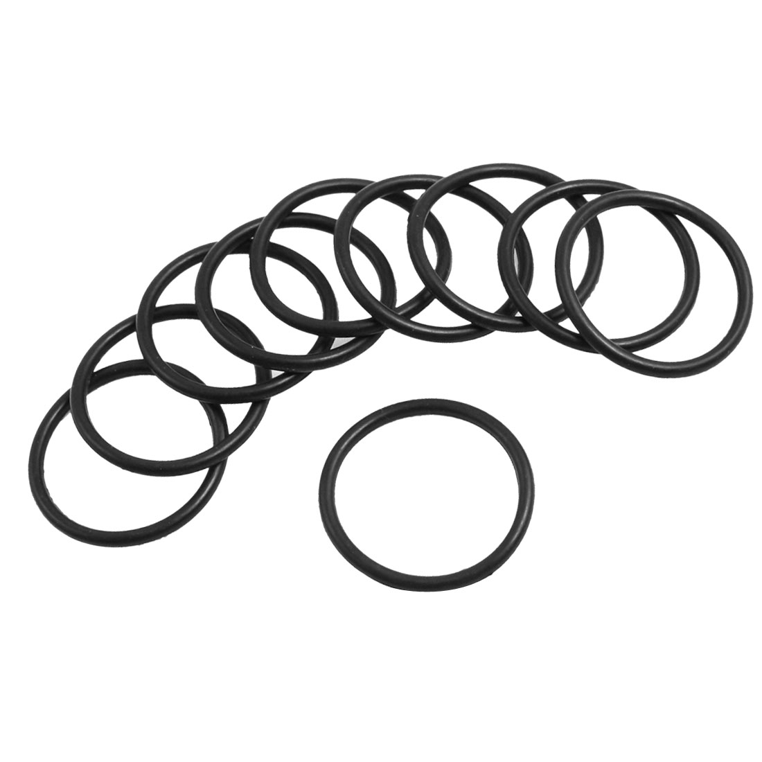 2mm x 25mm Black Nitrile Rubber Sealing O Ring Seal Washer Grommets 10 Pcs