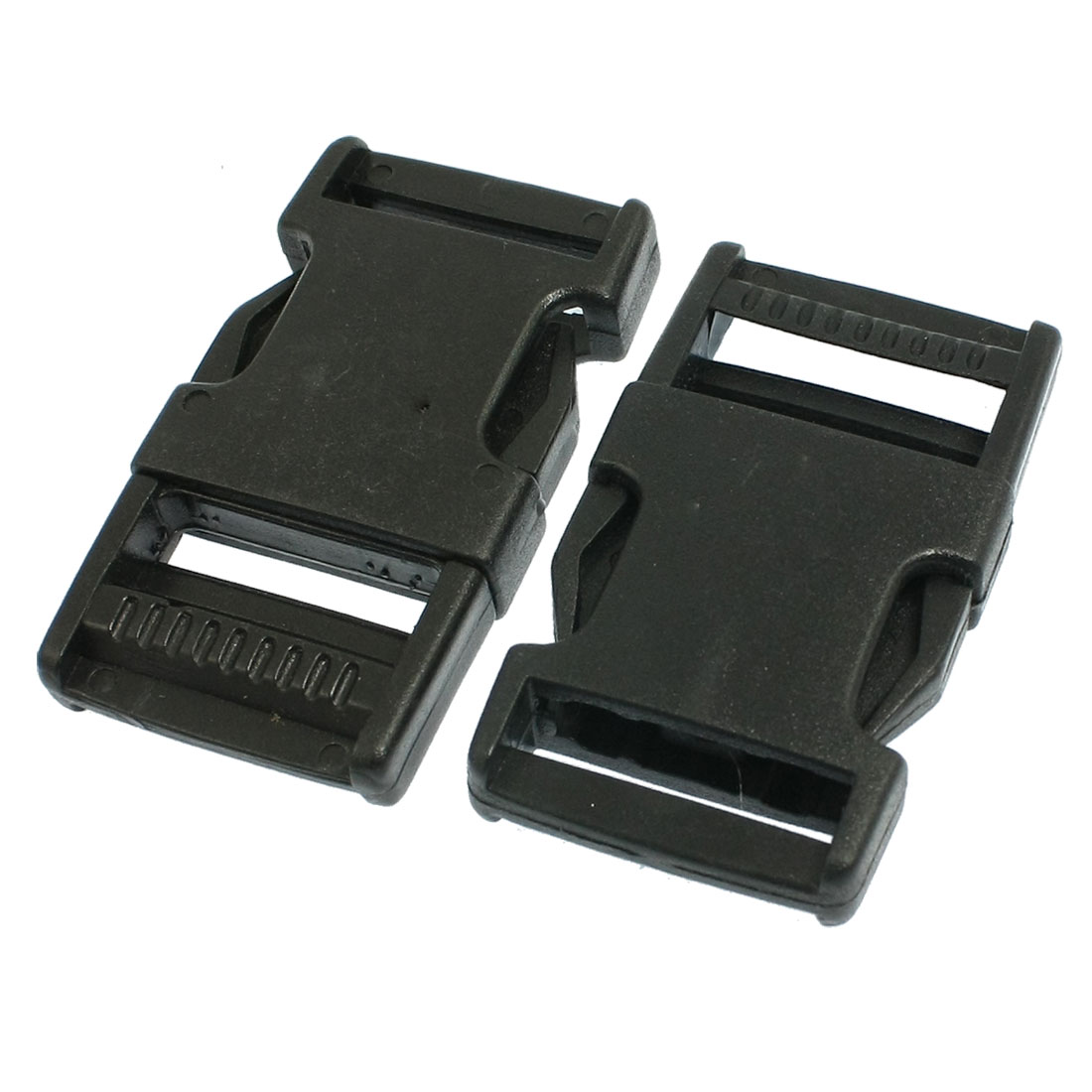 "1"" Repair Parts Belt Connecting Black Plastic Quick Release Buckle 2 Pcs"