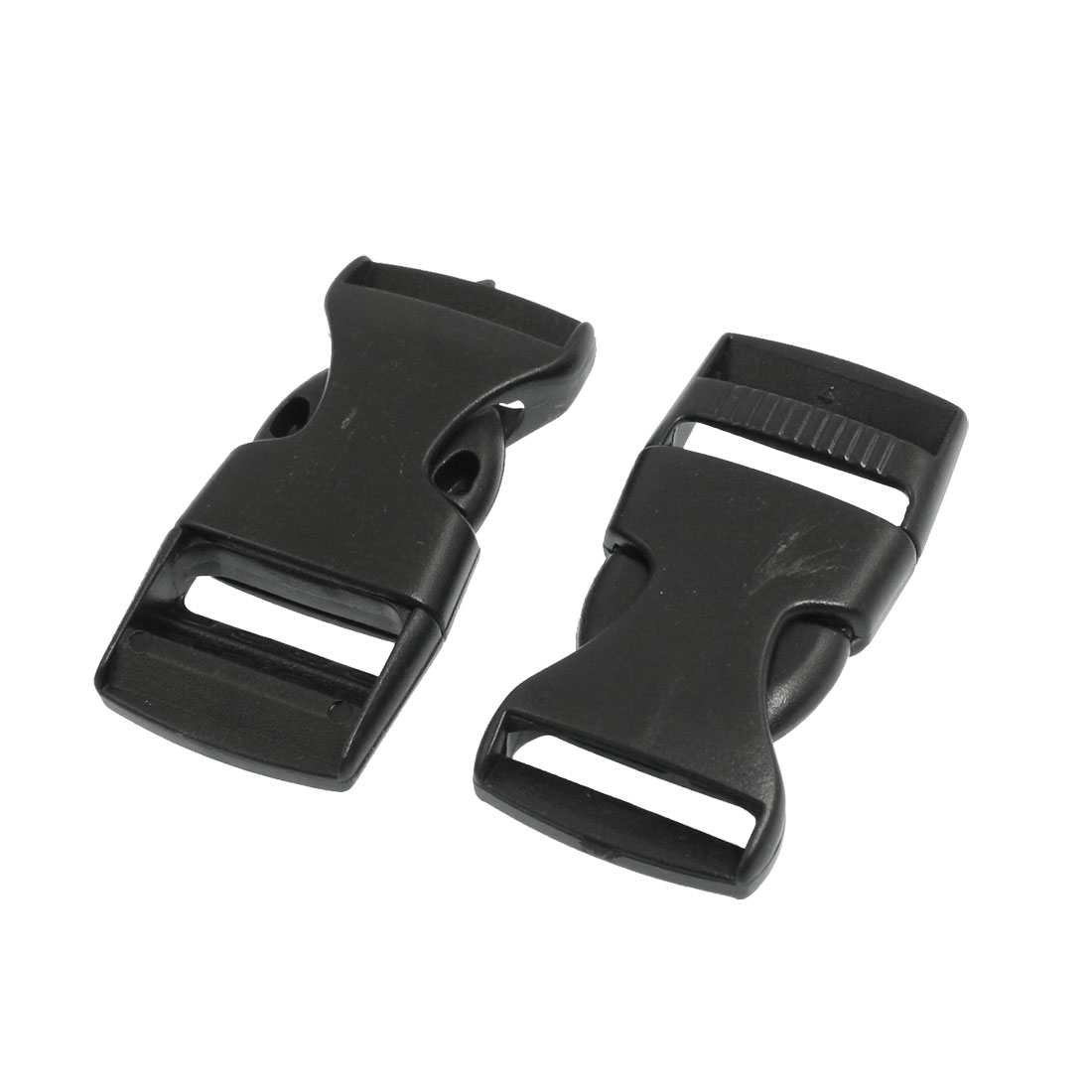 Repair Parts Belt Connecting Black Plastic Quick Release Buckle 2 Pcs