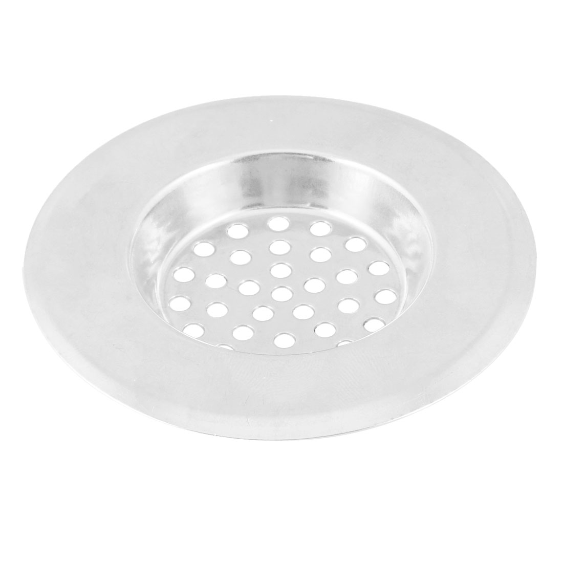 "Home Kitchen Silver Tone Stainless Steel Water Sink Drainer Strainer 2.9"" Dia"