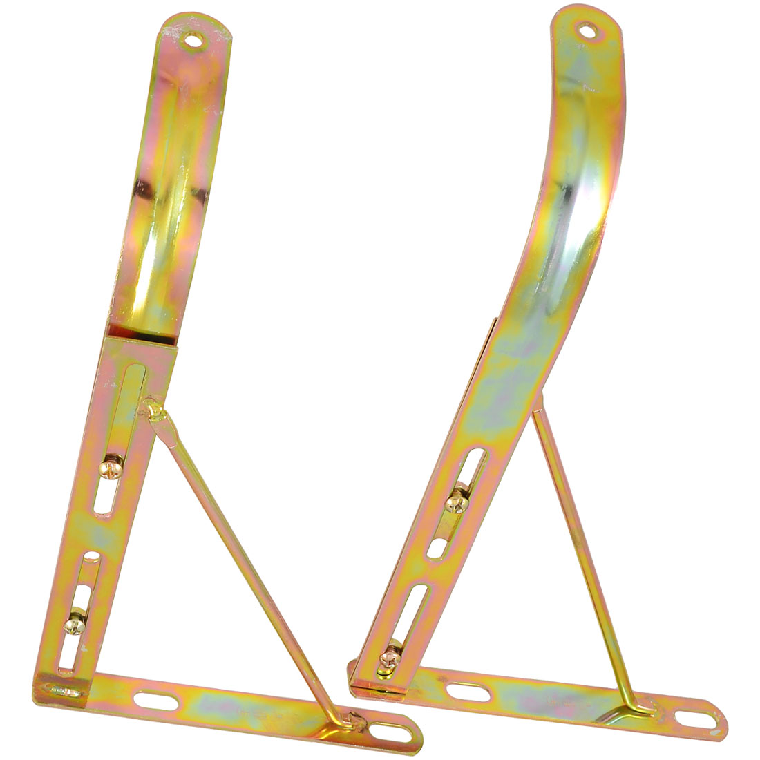 Kitchen Bathroom Basin Sink Gold Tone Metal Support Bracket 2 Pcs