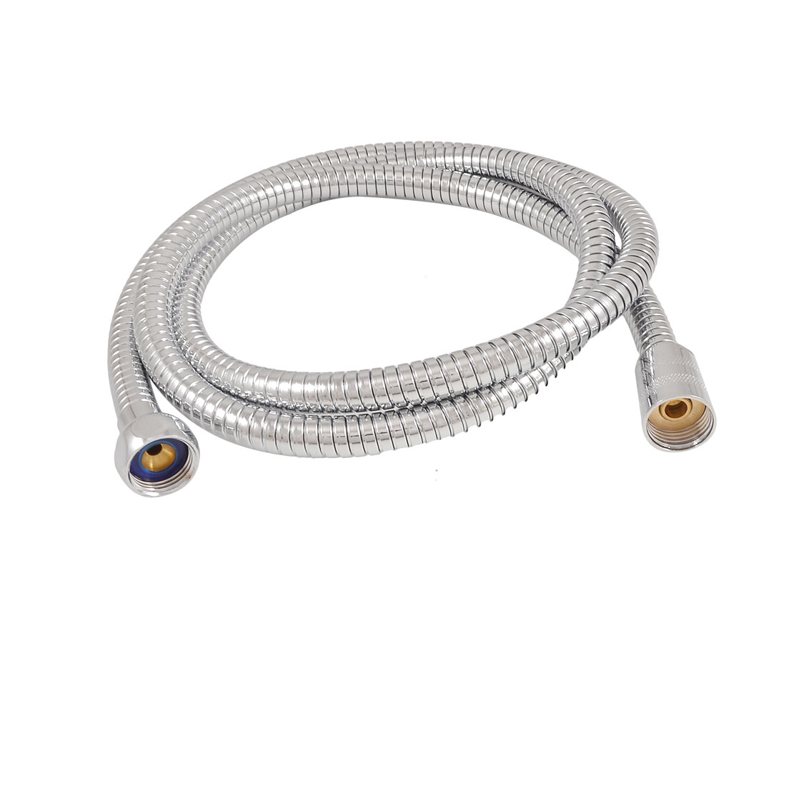 4.8Ft Length Bathroom Silver Tone Stainless Steel Flexible Shower Hose Pipe
