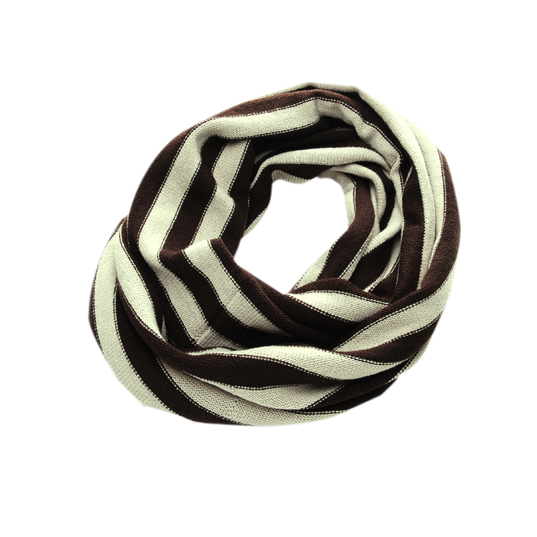 Mens Brown Apricot Roll Side Details Korea Stylish Inifity Loop Circle Scarf