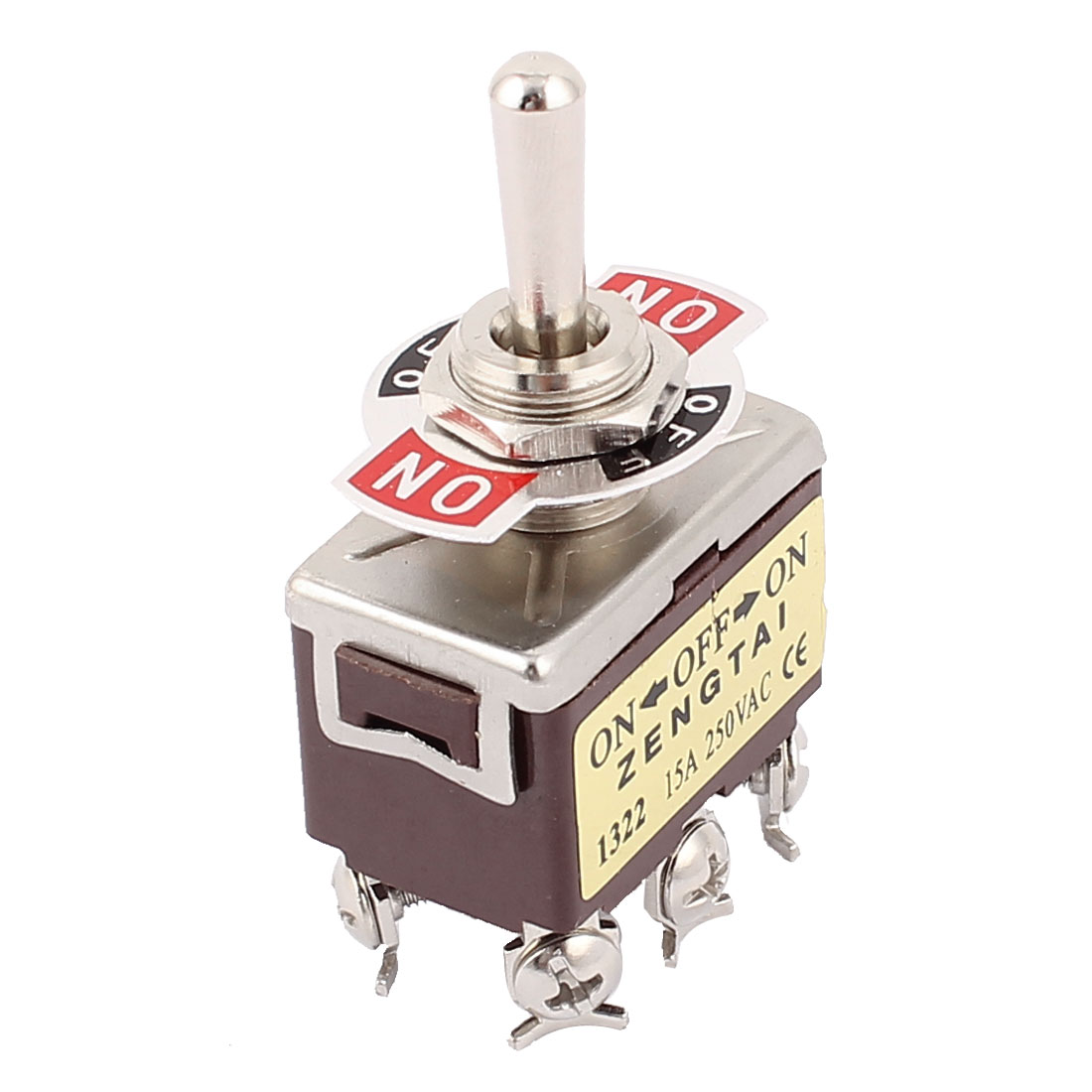 AC 250V/15A 6 Screw Terminals ON/OFF/ON 3 Position DPDT Toggle Switch