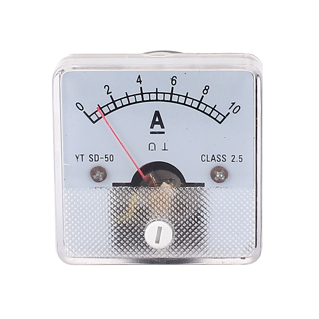 Class 2.5 Accuracy DC 0-10A Square Analog Panel Meter Ammeter