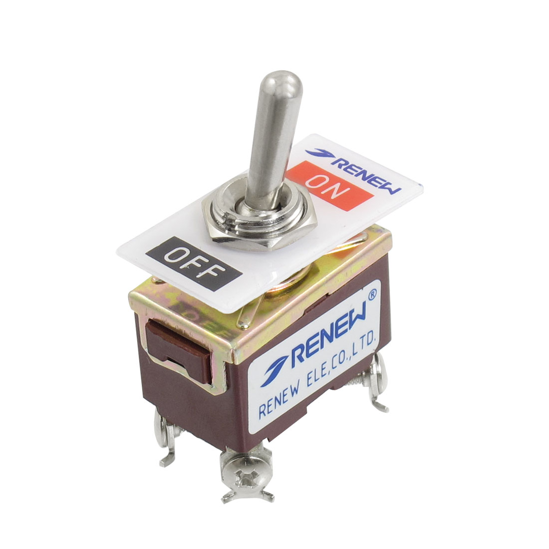 AC 250V/15A 125V/20A 4 Screw Terminals On-Off 2 Position DPST Toggle Switch