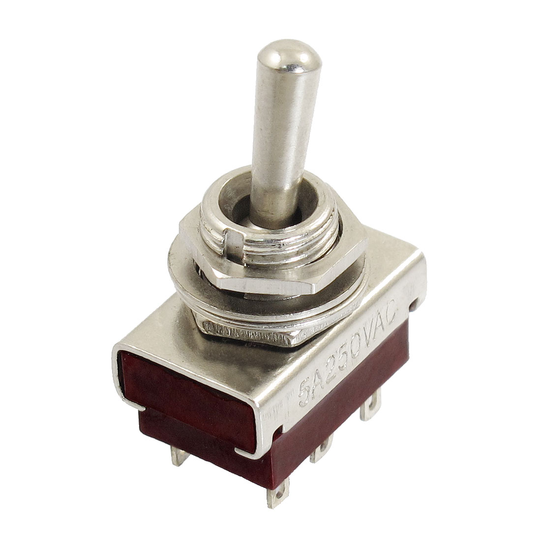 AC 250V 5A 6 Terminals On-On 2 Position DPDT Toggle Switch