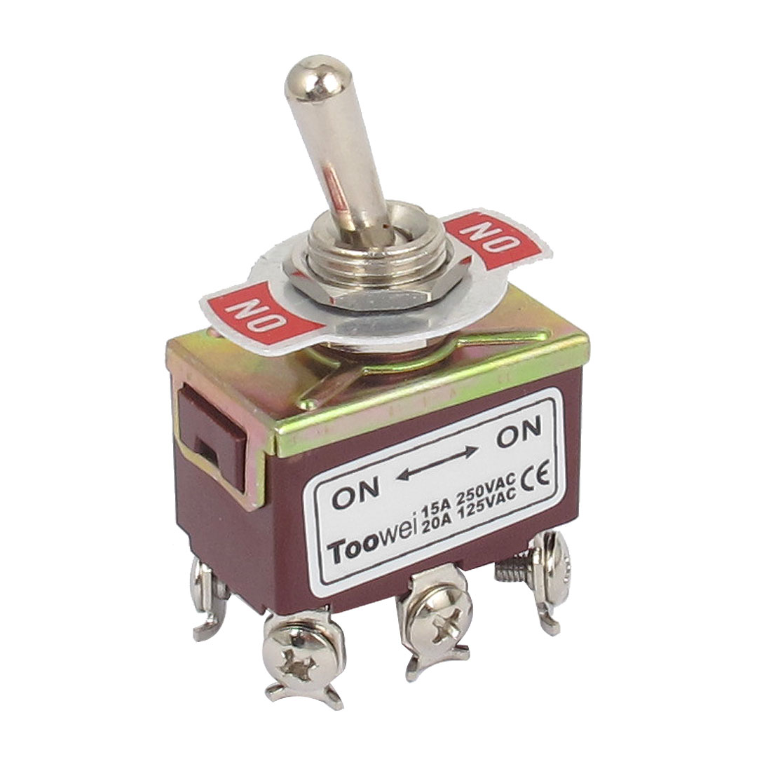 AC 250V/15A 125V/20A 6 Screw Terminals On-Off 2 Position DPDT Toggle Switch