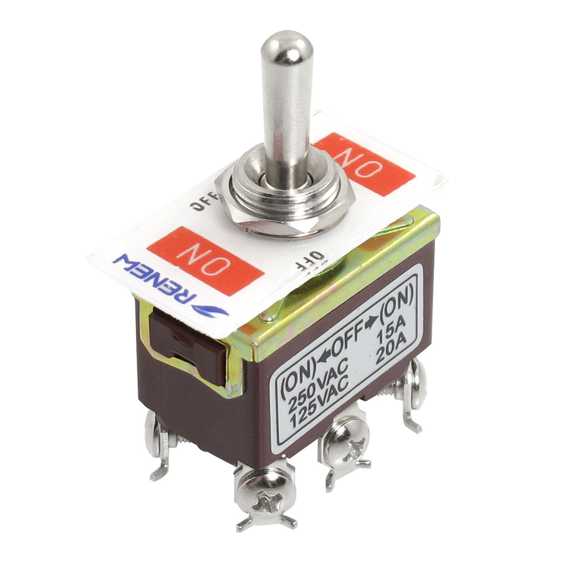 AC 250V/15A 125V/20A ON/OFF/ON 3 Position DPDT Momentary Toggle Switch