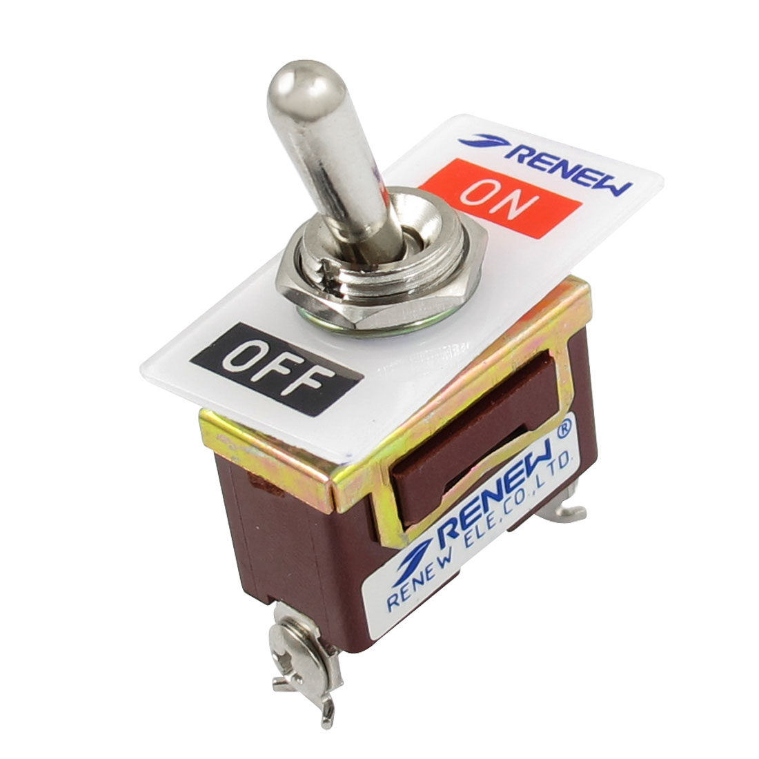 AC 250V/15A 125V/20A 2 Screw Terminals On-Off 2 Position SPST Toggle Switch
