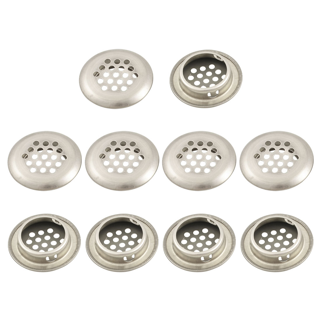 10 x Office Round Stainless Steel Air Flow Hole Ventilation Louvers 30mm