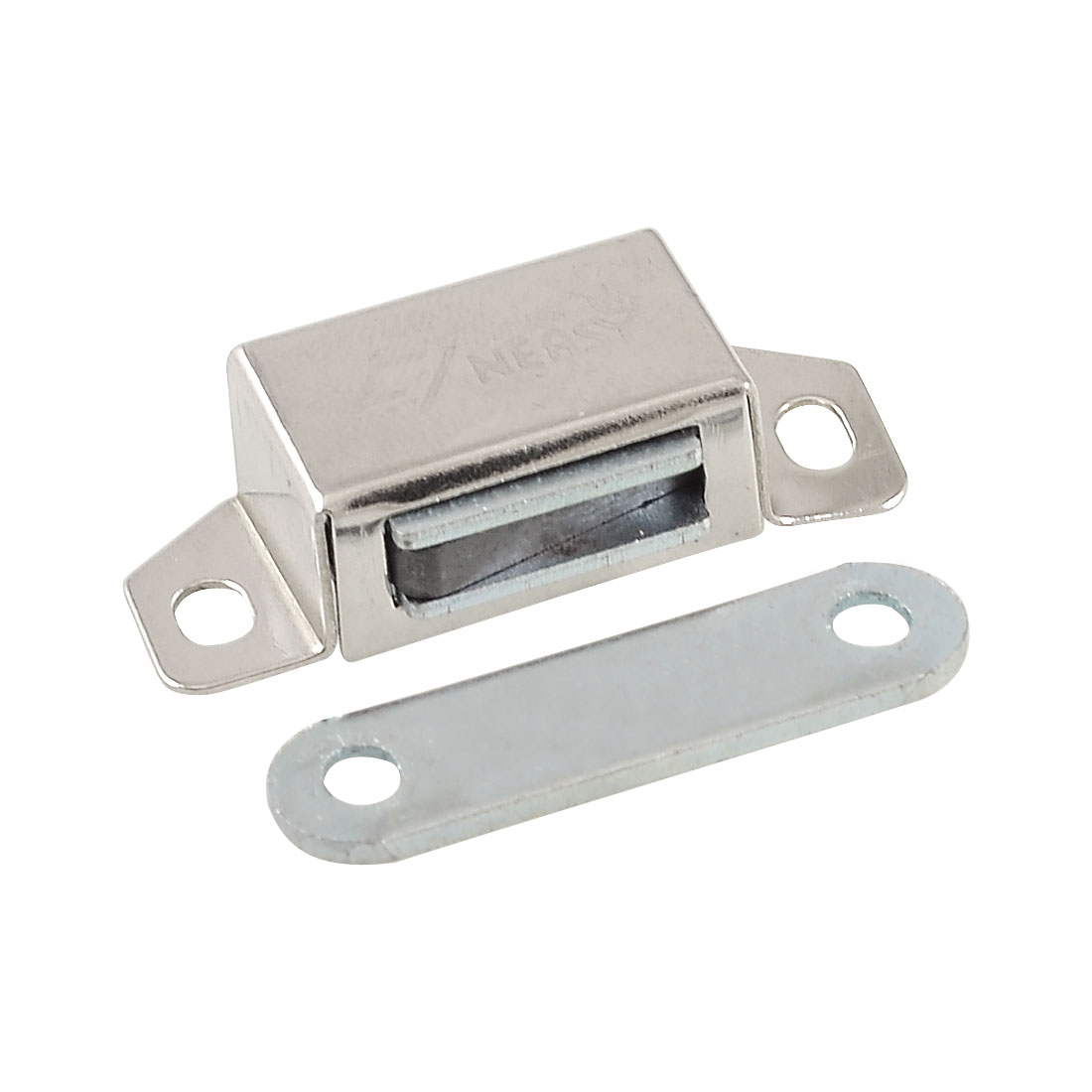 "Silver Tone Plate 1.4"" Length Magnetic Catch for Cabinet Door"