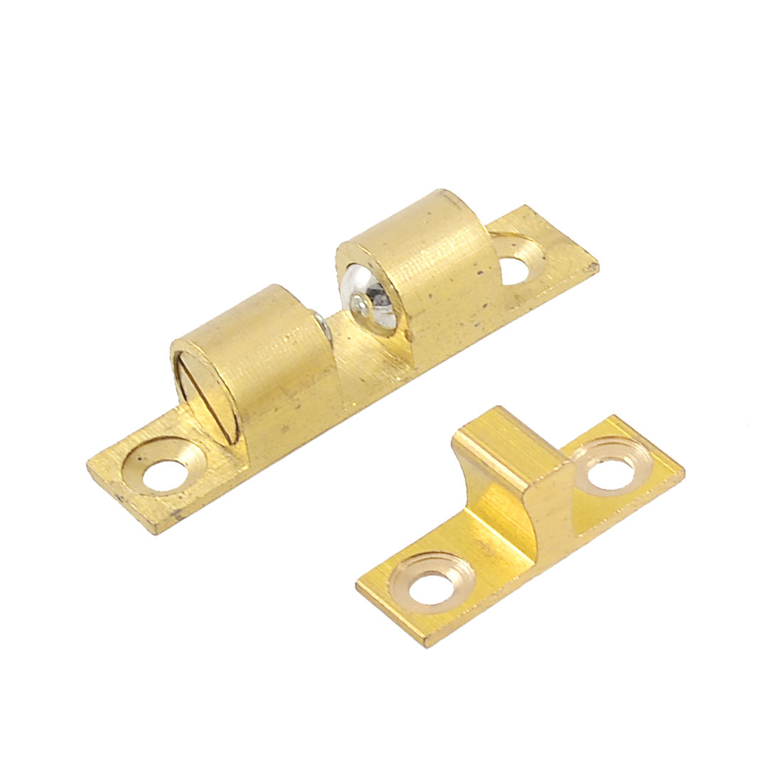 Home Door Latch Double Ball Catch 40mm Length Gold Tone