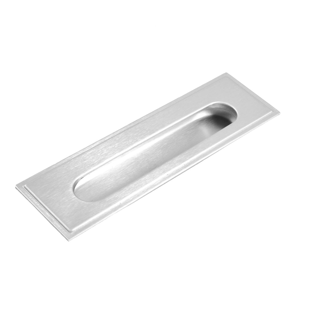 Cabinet Stainless Steel Rectangular Recessed Flush Pull 140mm Long