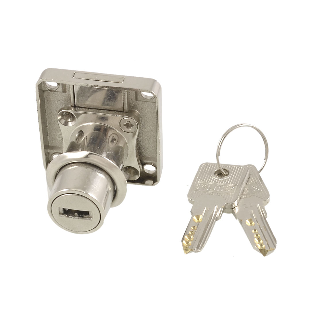 Cabinets Drawers 30mm Cylinder Bolt Lock Keys Set Silver Tone