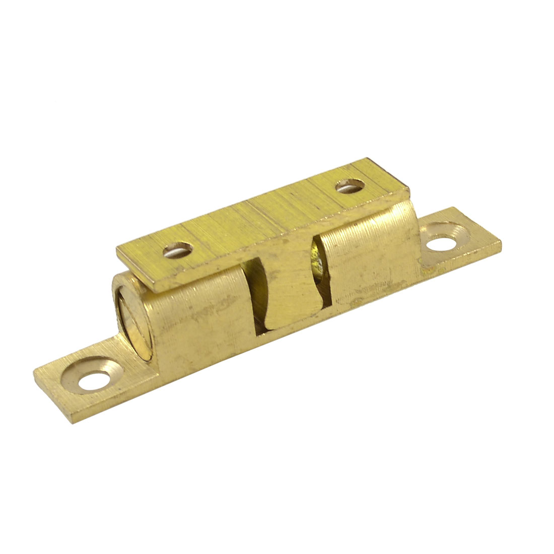 Home Door Latch Double Ball Catch 70mm Length Gold Tone
