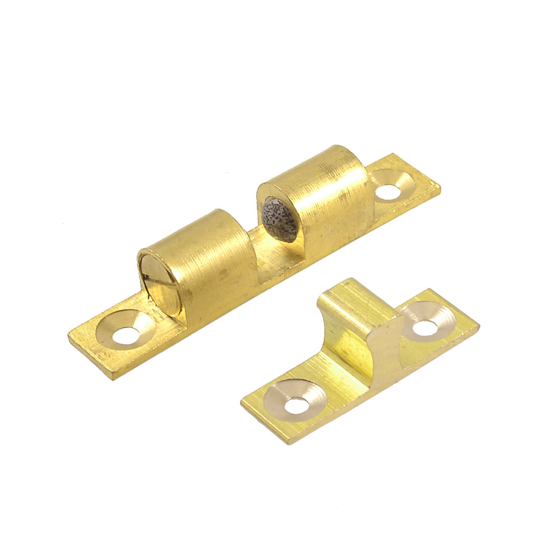Cupboard Drawer Brass Double Ball Catch 60mm Door Latch