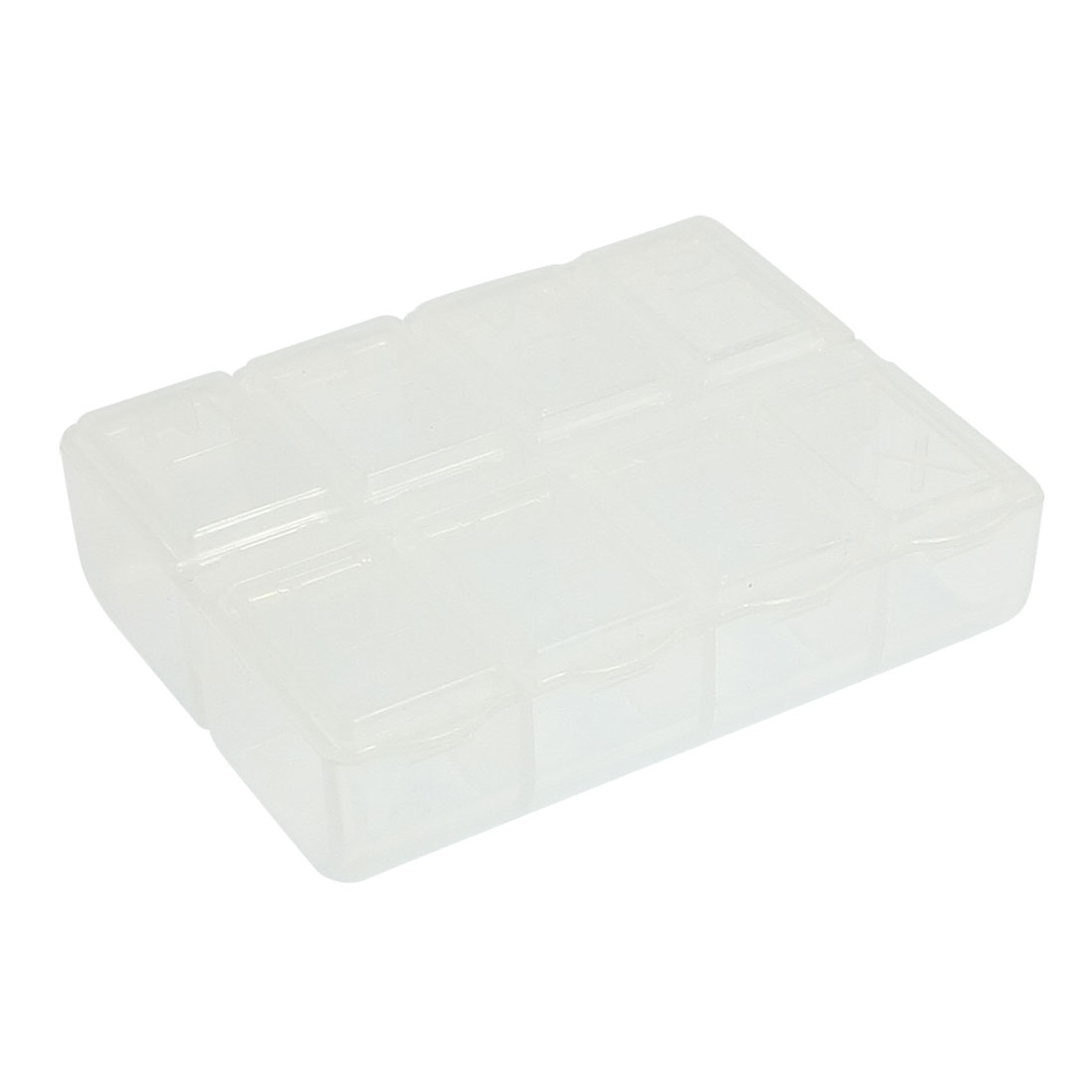 Clear Plastic 8 Compartments Fishing Hook Case Box