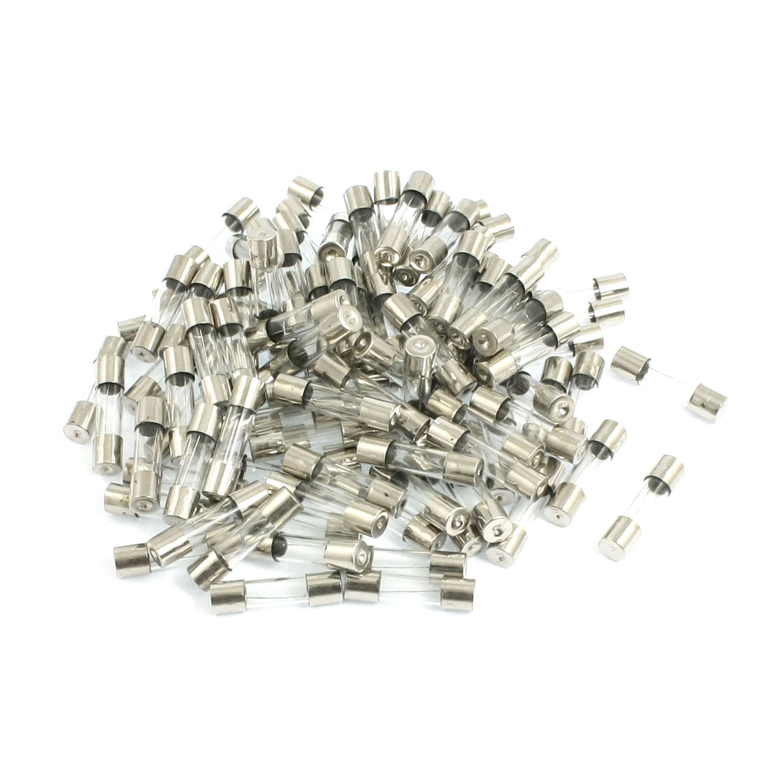 100 Pcs 250V 6A Low Breaking Capacity Fast Blow Glass Tube Fuses 5mm x 20mm