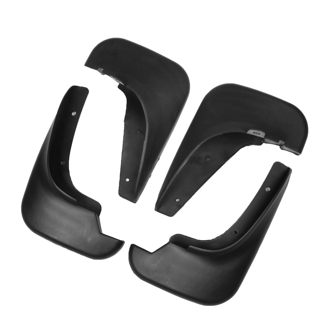 Front Rear Set Plastic Splash Guards Mud Flaps Black for Buick Excelle