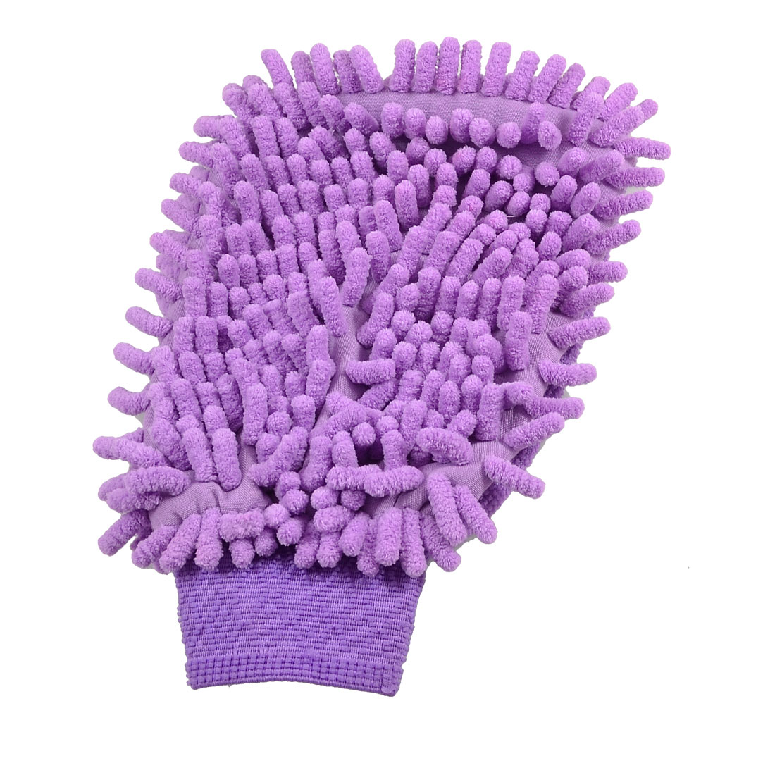 Vehicle Car Purple Microfiber Chenille Cleaning Mitten Wash Glove
