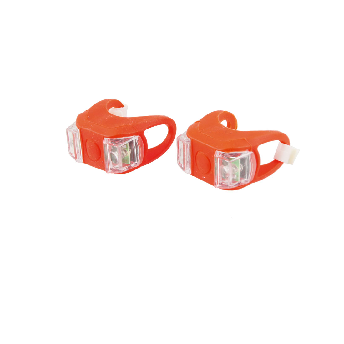 2 Pieces Mini 3 Function Red LED Silicone Bicycle Bike Headlight Lamp