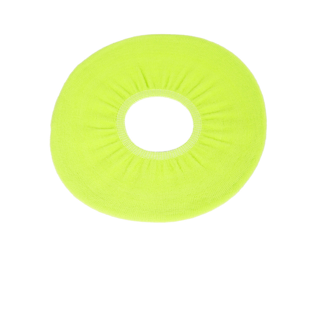 Toilet Closestool Yellow Green Fleece Seat Cover Clean Pad 31cm Dia