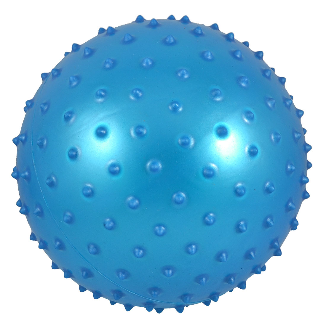 "6.3"" Inflated Diameter PVC Spiky Relaxing Massage Ball Toy Blue for Kids"