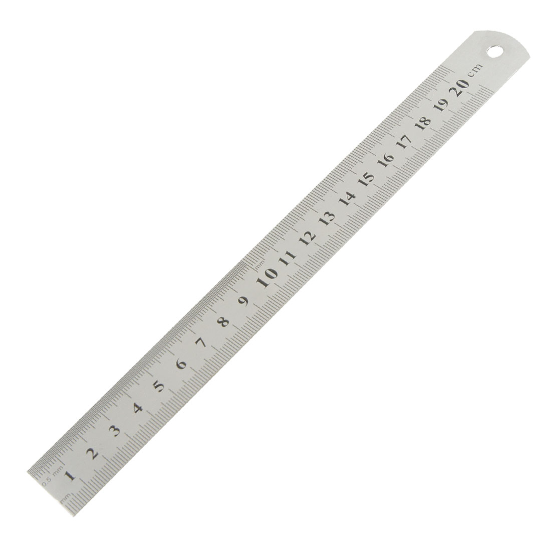 """20cm 8"""" Double Side Measurement Tool Long Straight Ruler for Handworking"""