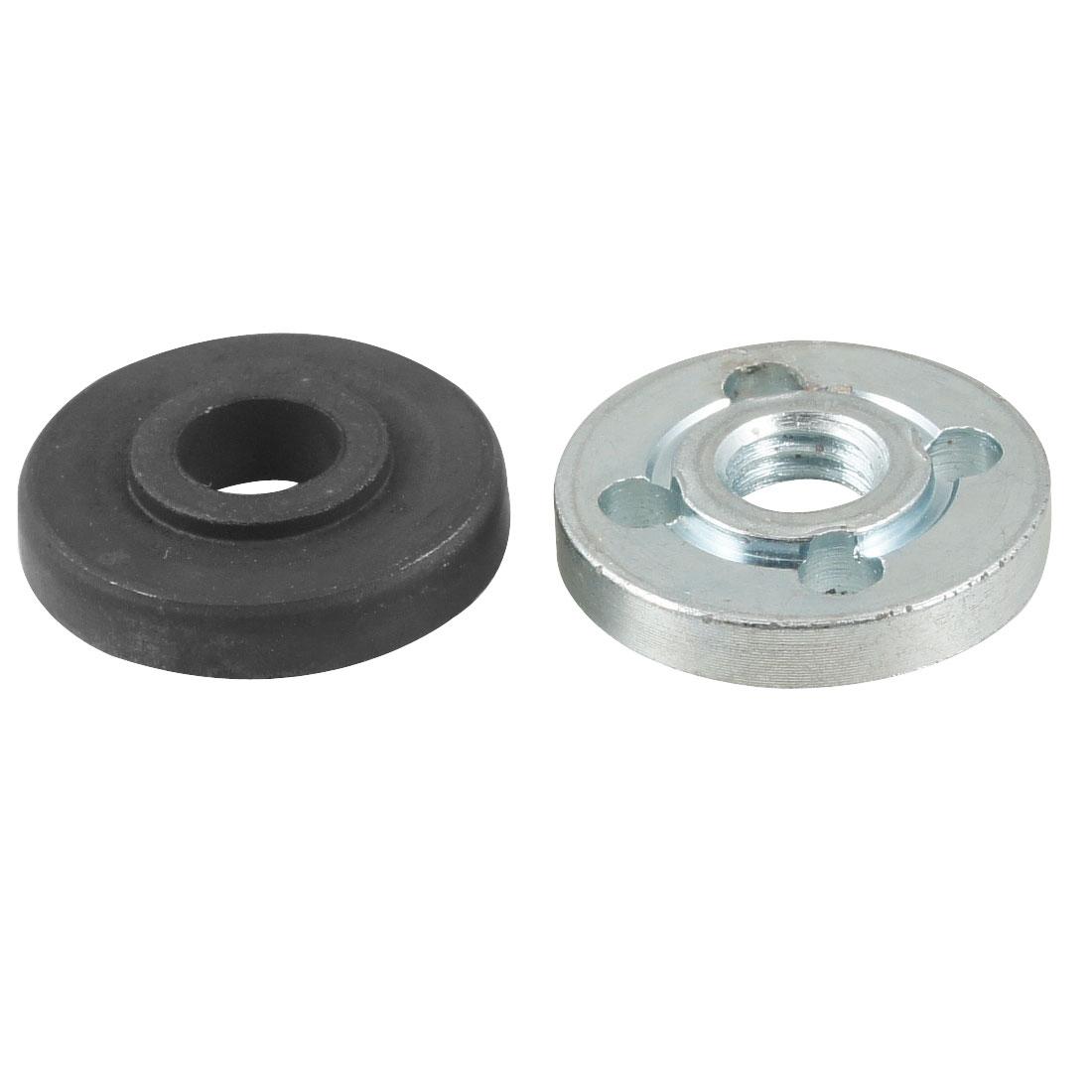 Black Silver Tone Cut off Machine Replacement Metal Inner Outer Flange