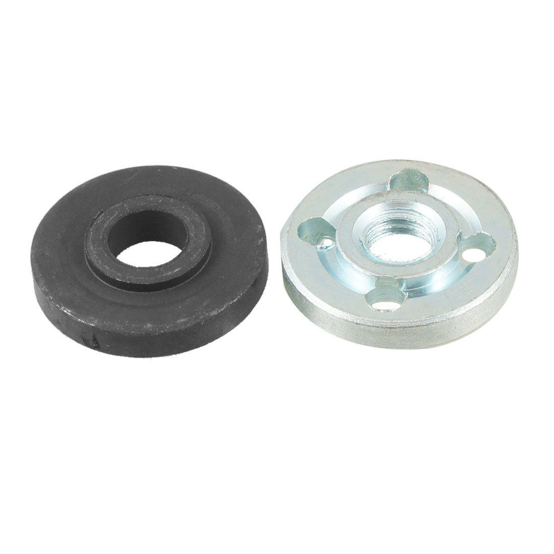 "1.2"" Diameter Inner Outer Flange Parts for Cut off Machine Black Silver Tone"