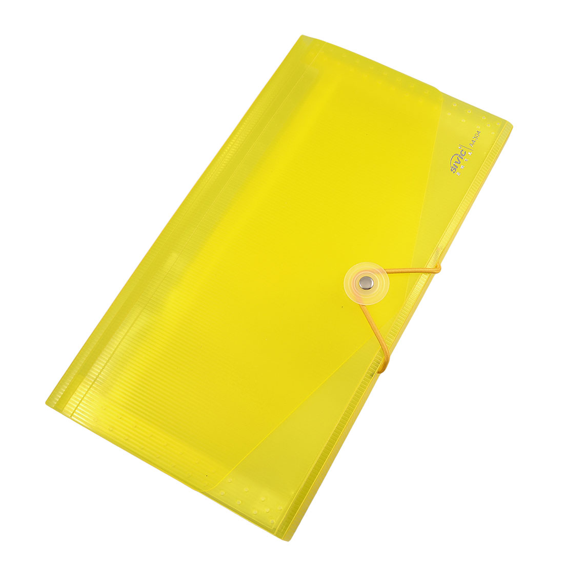 Letters Stickers 13-slot Plastic File Folder Examination Paper Holder Clear Yellow