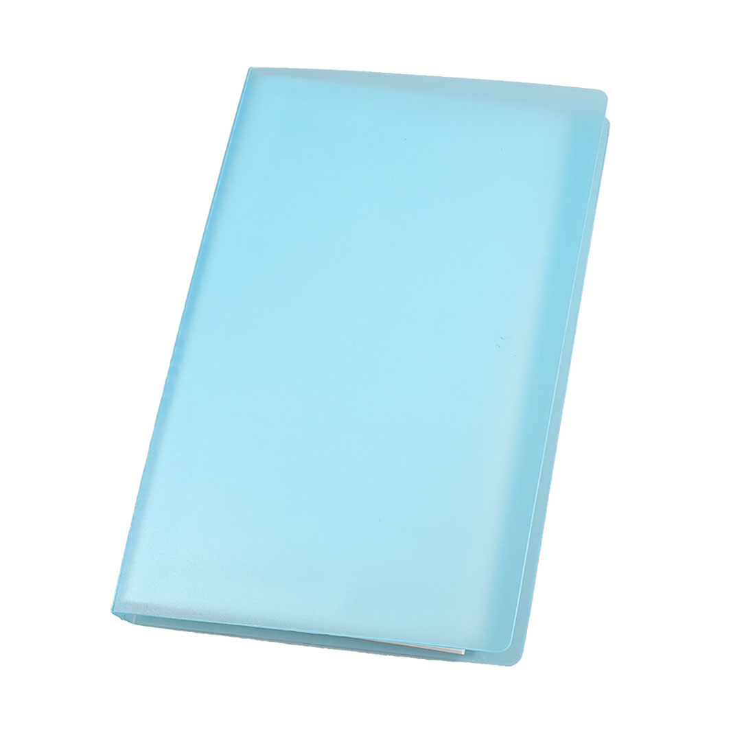 Notebook Shaped 120 Pcs Capacity Business Card Holder Light Blue