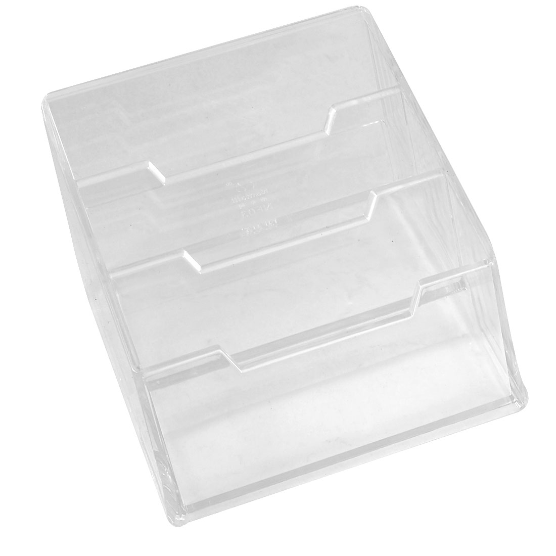 3-tier Design Clear Plastic Name Business Credit Card Stand Holder Case