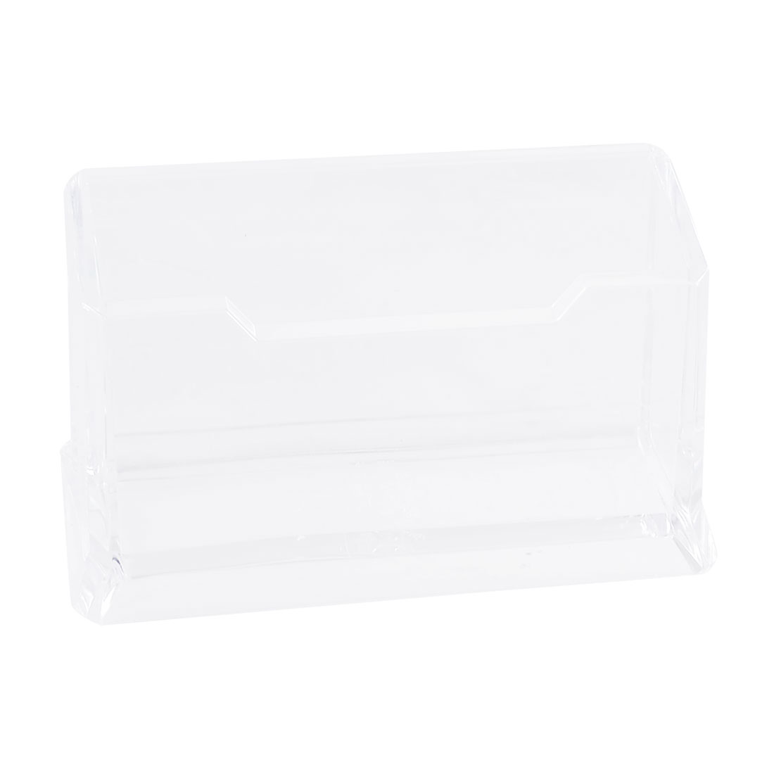 Clear Plastic Name Business ID Bank Card Stand Holder Case Box