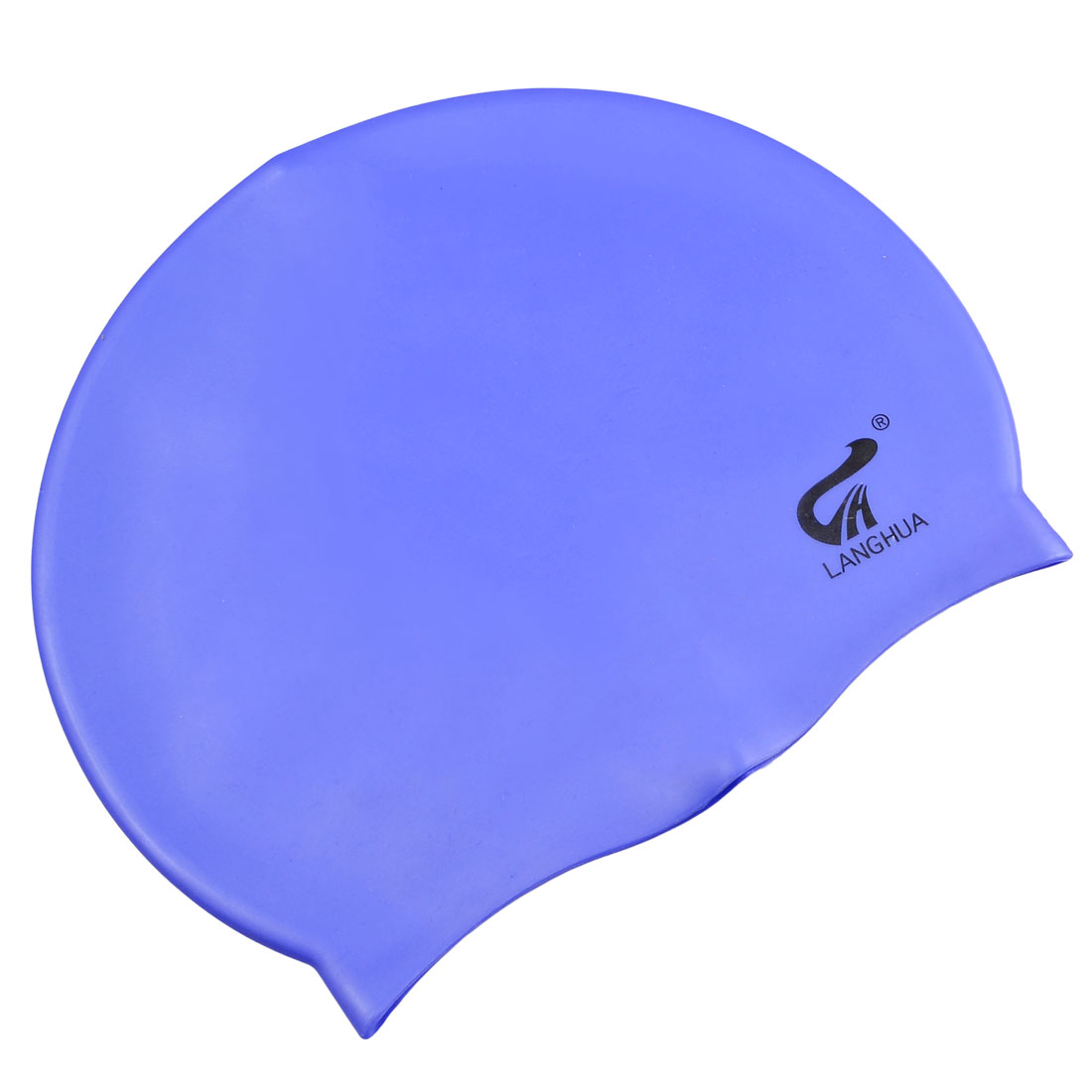 Adults Dome Shaped Elastic Light Blue Soft Plastic Swimming Swim Cap Hat