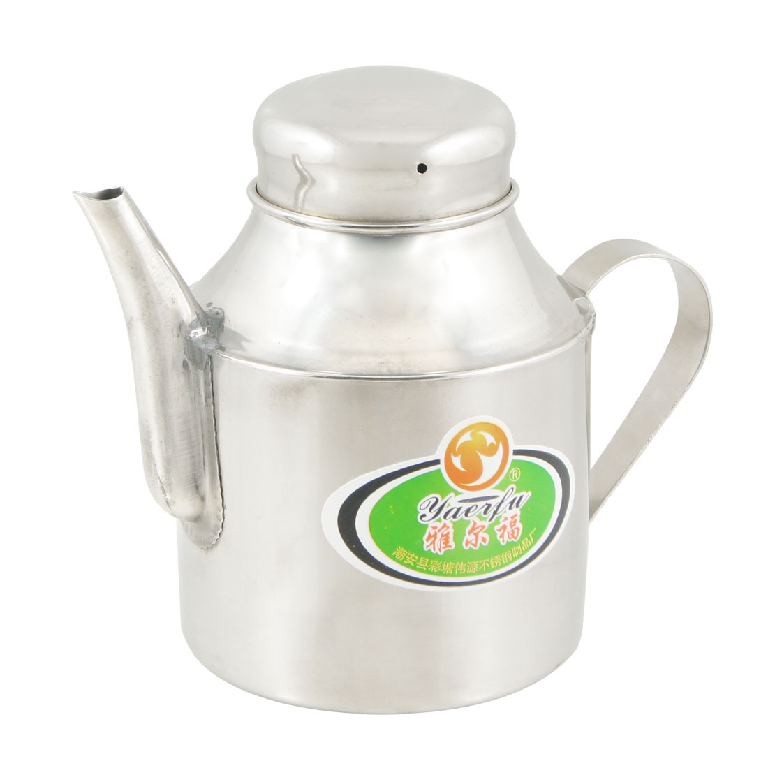 Silver Tone Stainless Steel Capacity Tea Pot Water Kettle