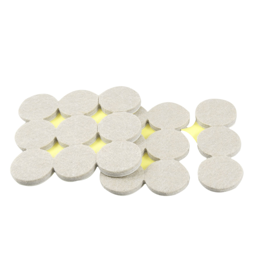 18 Pcs Furniture Round Shape Beige Tables Chairs Protection Pads Cushion