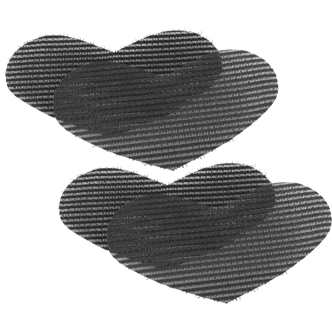 2 Pair Black Nylon Hearts Shaped Foretop Hair Posted Magic Sheet
