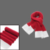 Mens New Fashion Red White Long Shawl Wrap Chunky Knit Scarf