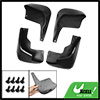 Black Plastic Mud Flaps Splash Guards Front + Rear Set for Peugeot 206