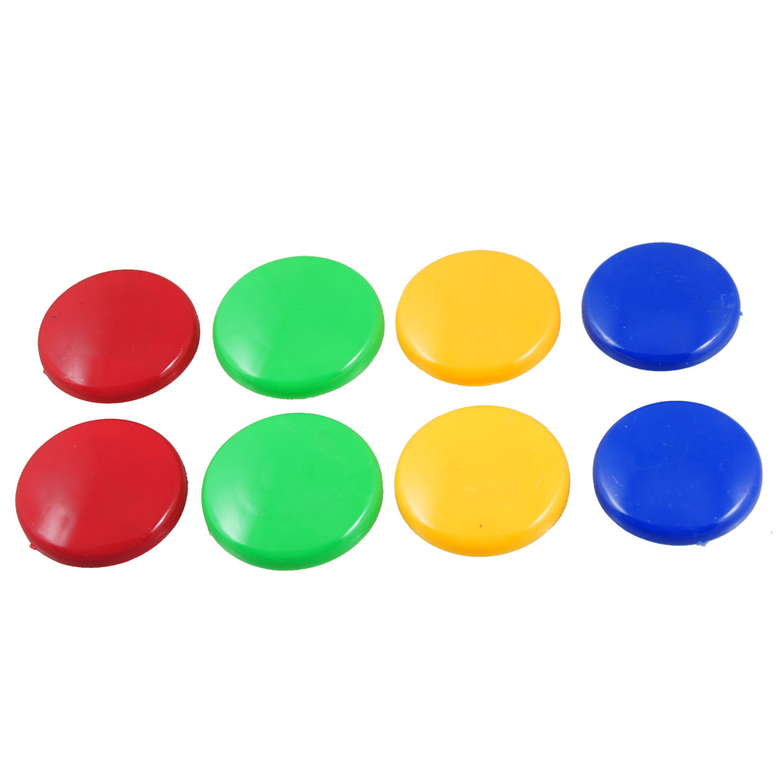 8 Pcs Multi Color 40mm Dia Round Fridge Magnets Paper Holder Set