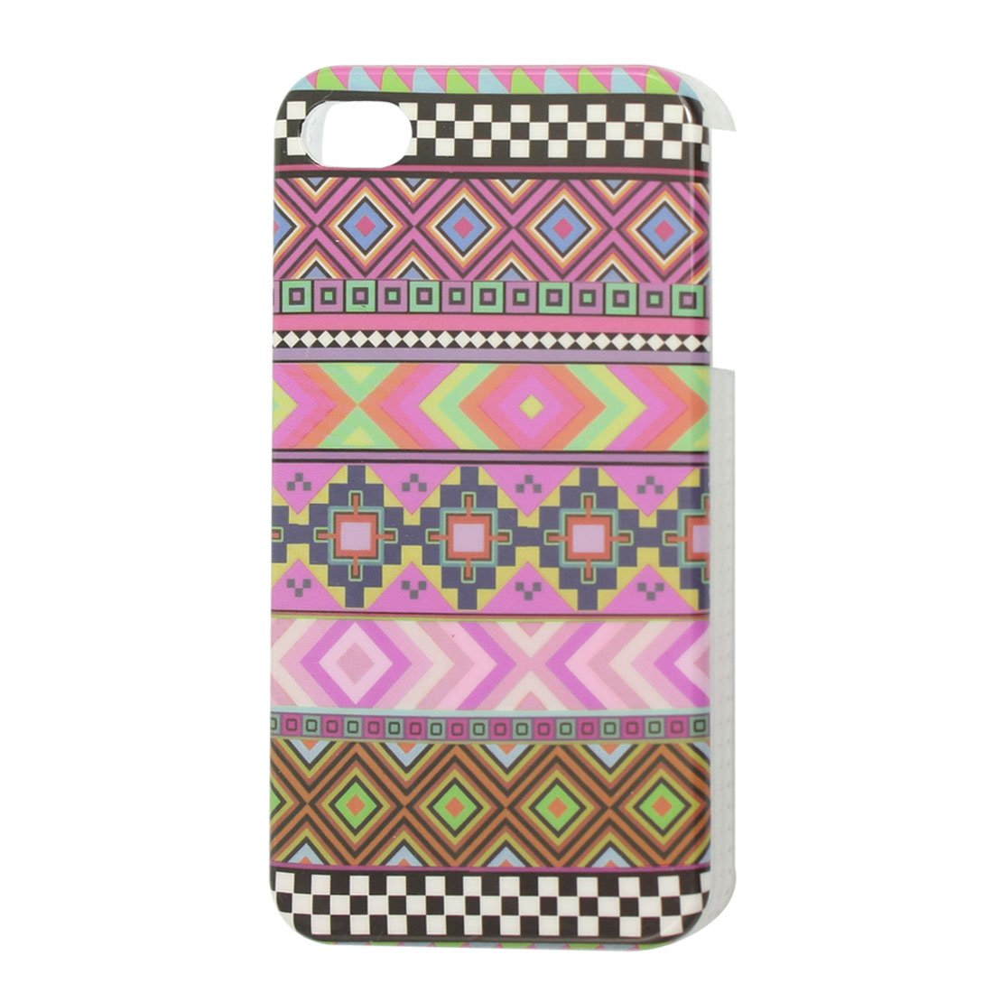 IMD Assorted Color Checkered Hard Plastic Back Case Protector for iPhone 4 4S