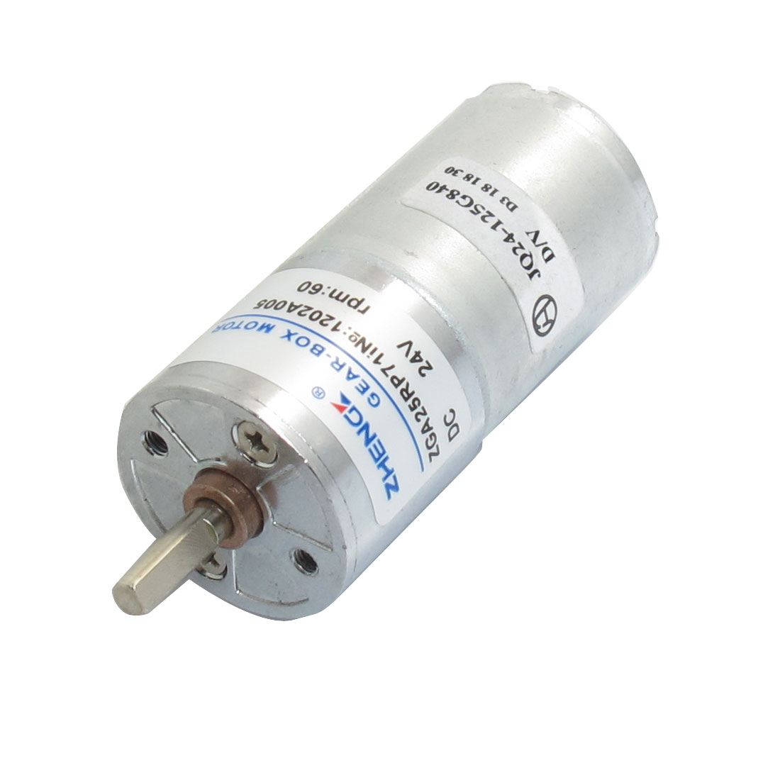 DC 24V 60RPM Speed Reducing Power Geared Motor 25mm x 53mm