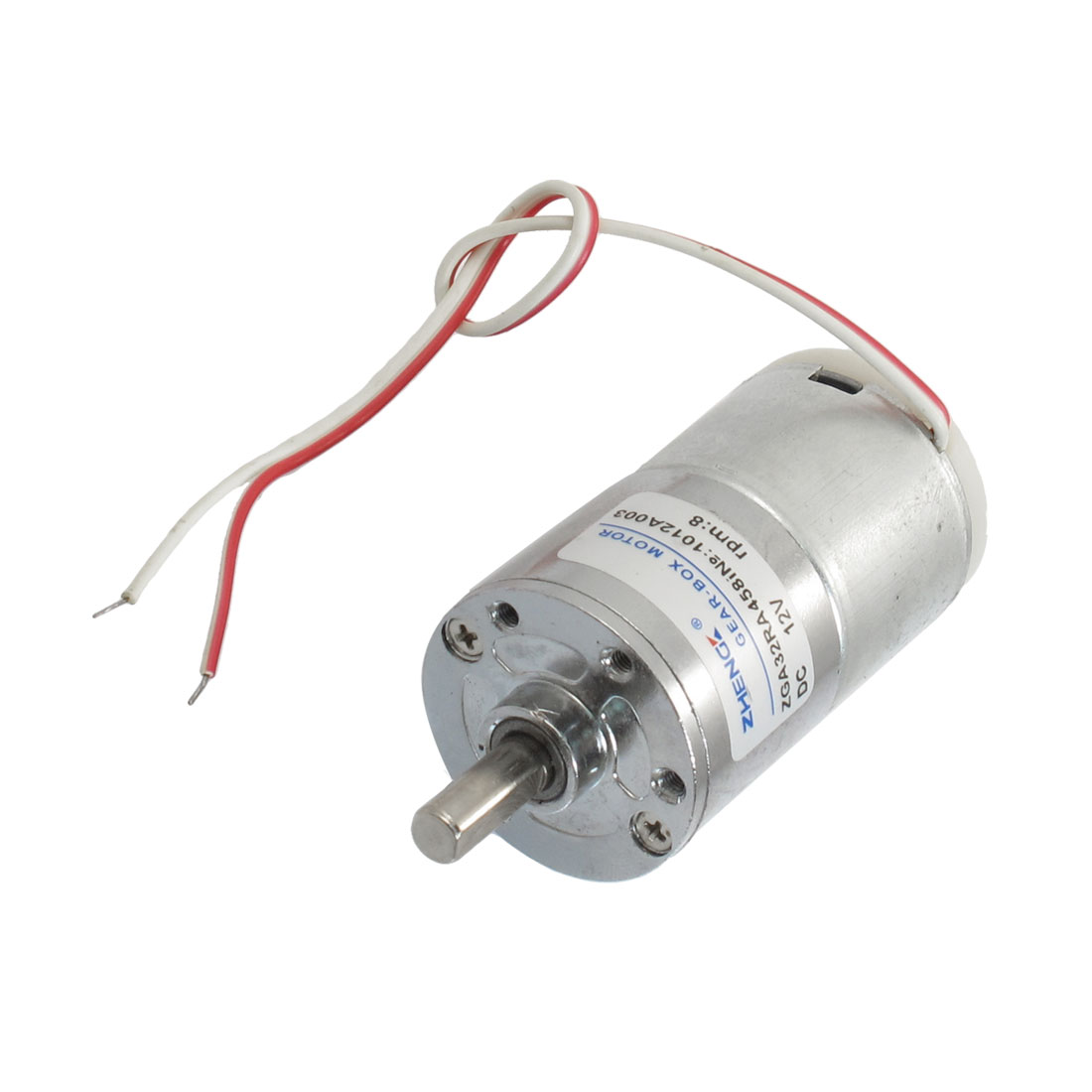 Wired 6mm Shaft Diameter Electric Oven Geared Motor 12VDC 8RPM