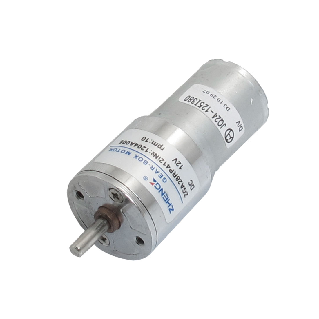 28mm Body Diameter Two Terminals Power Oven Geared Motor 12VDC 10RPM