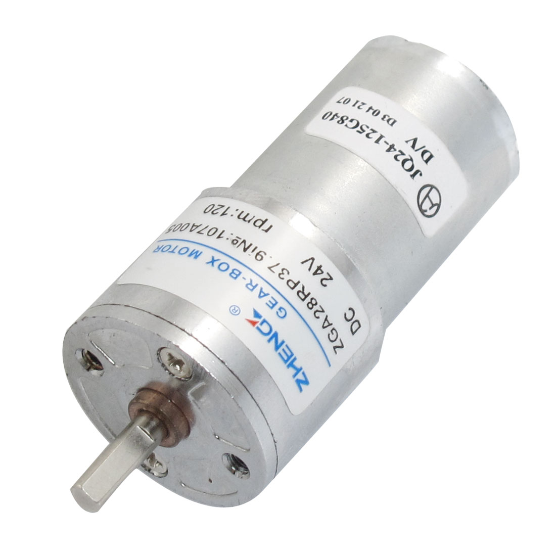 DC 24V 120RPM 2 Terminals Electric Geared Motor 28mm x 56mm
