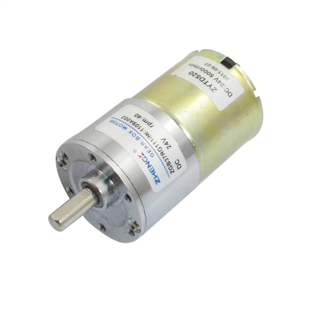 37mm Diameter Grill Electronic Parts Geared Motor 40RPM 24VDC