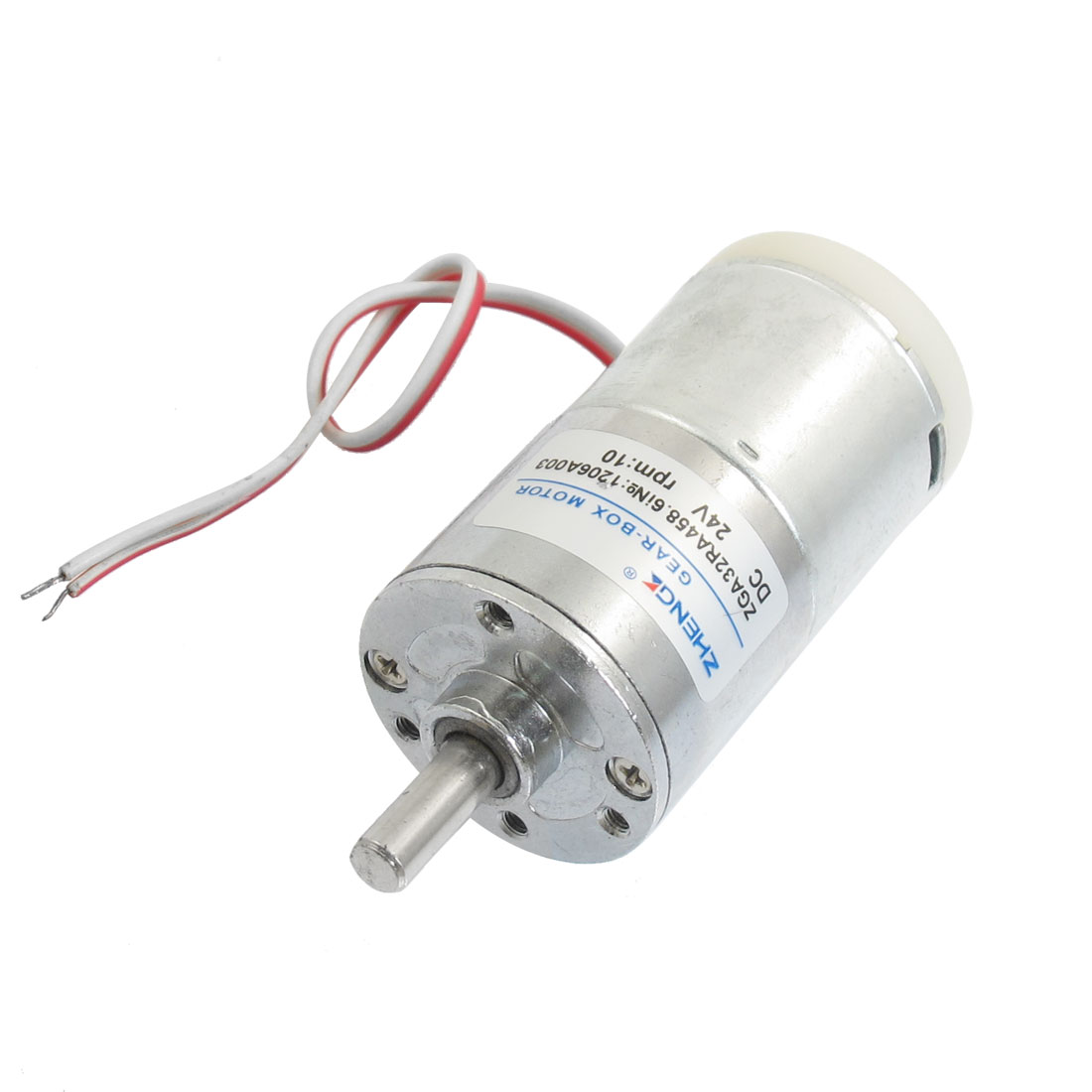 24V 10RPM Cylinder Shape 74mm Height Machine Micro DC Gear Motor